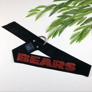 Embellished Bears Double Ring Suede Leather Belt